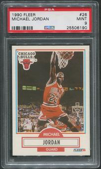 1990/91 Fleer Basketball #26 Michael Jordan PSA 9 (MINT)