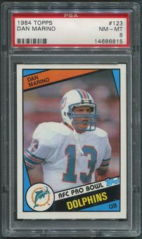 1984 Topps Football #123 Dan Marino Rookie PSA 8 (NM-MT)