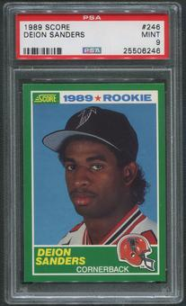 1989 Score Football #246 Deion Sanders Rookie PSA 9 (MINT)