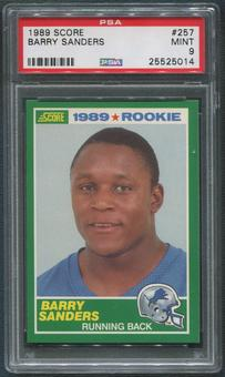 1989 Score Football #257 Barry Sanders Rookie PSA 9 (MINT)