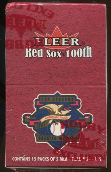 2001 Fleer Red Sox 100th Anniversary Baseball Retail 15-Pack Box
