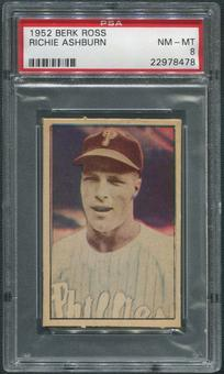 1952 Berk Ross Baseball #1 Richie Ashburn PSA 8 (NM-MT)