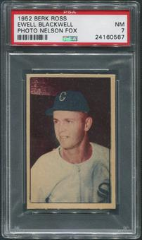1952 Berk Ross Baseball #4 Ewell Blackwell Photo Melson Fox PSA 7 (NM)