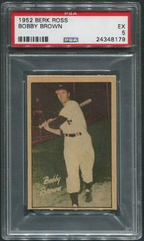 1952 Berk Ross Baseball #5 Bobby Brown PSA 5 (EX)