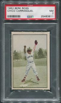 1952 Berk Ross Baseball #8 Chico Carrasquel PSA 7 (NM)