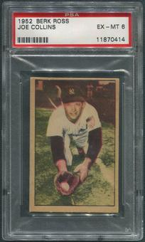 1952 Berk Ross Baseball #10 Joe Collins PSA 6 (EX-MT)
