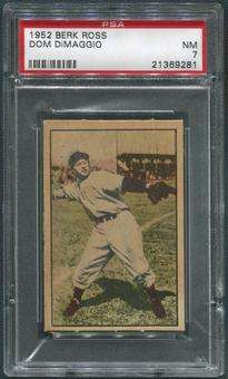 1952 Berk Ross Baseball #12 Dom DiMaggio PSA 7 (NM)