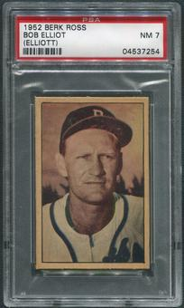 1952 Berk Ross Baseball #16 Bob Elliott PSA 7 (NM)