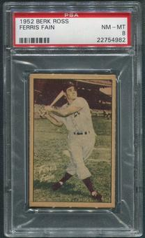 1952 Berk Ross Baseball #18 Ferris Fain PSA 8 (NM-MT)
