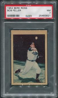 1952 Berk Ross Baseball #19 Bob Feller PSA 7 (NM)