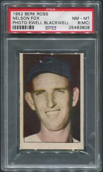 1952 Berk Ross Baseball #20 Nellie Fox Photo Ewell Blackwell PSA 8 (NM-MT) (MC)