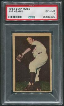 1952 Berk Ross Baseball #23 Jim Hearn PSA 6 (EX-MT)