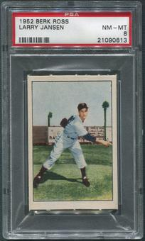 1952 Berk Ross Baseball #26 Larry Jansen PSA 8 (NM-MT)
