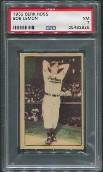 1952 Berk Ross Baseball #33 Bob Lemon PSA 7 (NM)