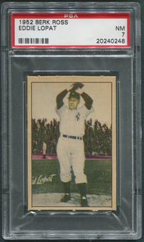 1952 Berk Ross Baseball #35 Ed Lopat PSA 7 (NM)