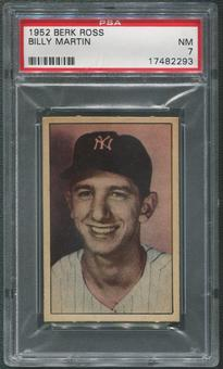 1952 Berk Ross Baseball #38 Billy Martin PSA 7 (NM)