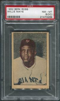 1952 Berk Ross Baseball #39 Willie Mays PSA 8 (NM-MT) (OC)