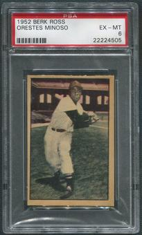 1952 Berk Ross Baseball #41 Minnie Minoso PSA 6 (EX-MT)