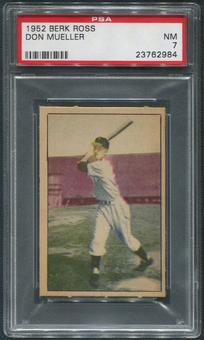 1952 Berk Ross Baseball #44 Don Mueller PSA 7 (NM)