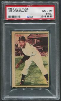 1952 Berk Ross Baseball #48 Joe Ostrowski PSA 8 (NM-MT) (OC)