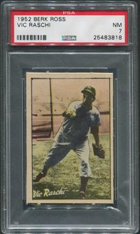 1952 Berk Ross Baseball #50 Vic Raschi PSA 7 (NM)