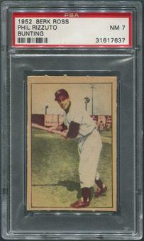 1952 Berk Ross Baseball #54A Phil Rizzuto Bunting PSA 7 (NM)