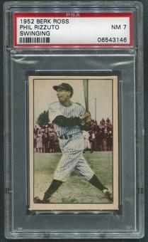 1952 Berk Ross Baseball #54B Phil Rizzuto Swinging PSA 7 (NM)