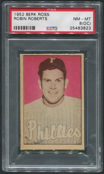 1952 Berk Ross Baseball #55 Robin Roberts PSA 8 (NM-MT) (OC)