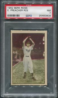1952 Berk Ross Baseball #58 Preacher Roe PSA 7 (NM)