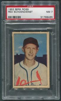 1952 Berk Ross Baseball #60 Red Schoendienst PSA 7 (NM)