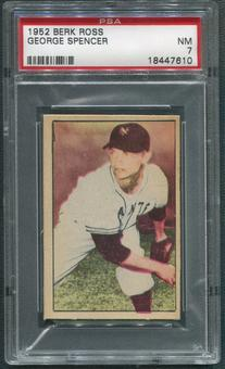 1952 Berk Ross Baseball #62 George Spencer PSA 7 (NM)