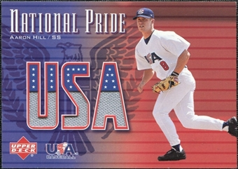 2003 Upper Deck National Pride Memorabilia #AH Aaron Hill Jersey