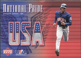 2003 Upper Deck National Pride Memorabilia #JJ1 Jacque Jones Blue SP Jersey /250