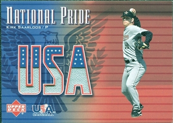 2003 Upper Deck National Pride Memorabilia #KSA1 Kirk Saarloos Grey Jersey SP /250