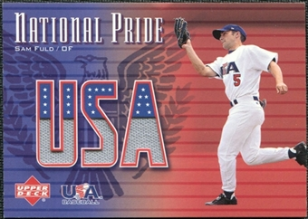 2003 Upper Deck National Pride Memorabilia #SF Sam Fuld