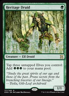 Magic the Gathering Eternal Masters Single Heritage Druid NEAR MINT (NM)