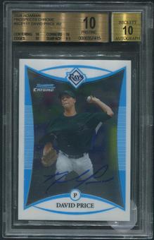 2008 Bowman Chrome #BCP111 David Price Rookie Auto BGS 10 (PRISTINE)