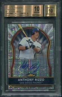 2011 Finest #97 Anthony Rizzo Rookie X-Fractor Auto #283/299 BGS 10 (PRISTINE)