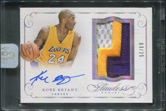 2014/15 Panini Flawless #1 Kobe Bryant Patch Auto #03/25