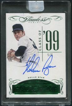 2016 Panini Flawless #17 Nolan Ryan Hall of Fame Emerald Auto #5/5