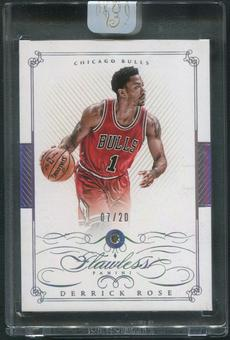 2014/15 Panini Flawless #12 Derrick Rose Diamond #07/20