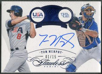 2016 Panini Flawless #22 Tom Murphy Transitions Rookie Sapphire Auto #01/15