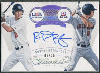 2016 Panini Flawless #18 Rob Refsnyder Transitions Rookie Auto #06/25