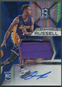 2015/16 Panini Spectra #102 D'Angelo Russell Rookie Jersey Auto