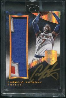 2014/15 Panini Eminence #1 Carmelo Anthony Gold Patch Auto #1/5