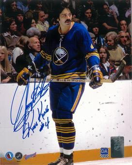 Jerry Korab Autographed Buffalo Sabres 8x10 Skating Photo