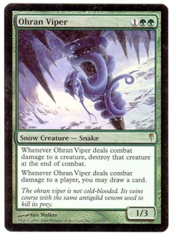 Magic the Gathering Coldsnap Single Ohran Viper Foil