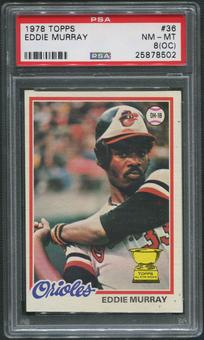 1978 Topps Baseball #36 Eddie Murray Rookie PSA 8 (NM-MT) (OC)
