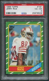 1986 Topps Football #161 Jerry Rice Rookie PSA 4 (VG-EX)