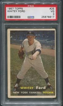 1957 Topps Baseball #25 Whitey Ford PSA 3 (VG)